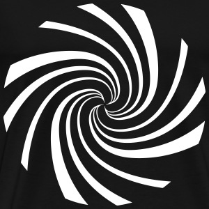 spiral whirlpool typhoon cyclone - Men's Premium T-Shirt
