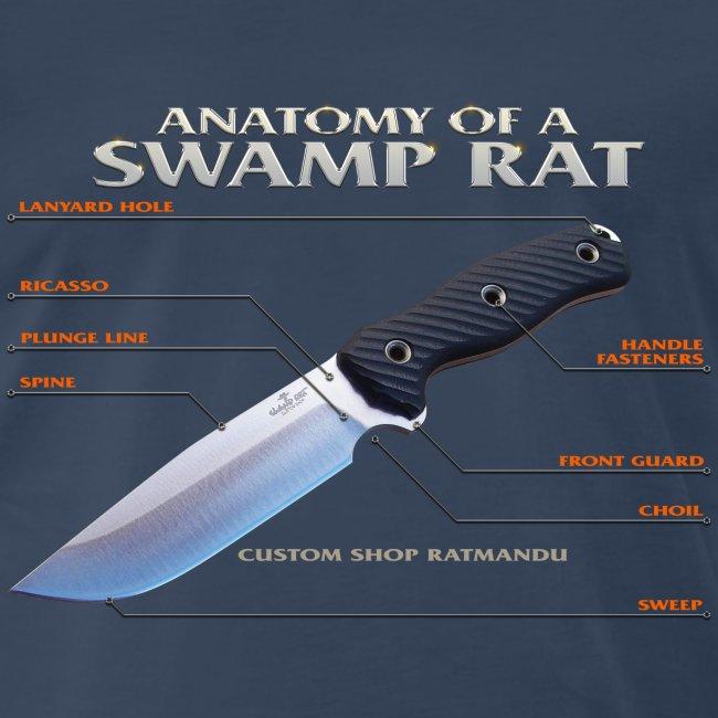 Anatomy of a Swamp Rat Mens Tee