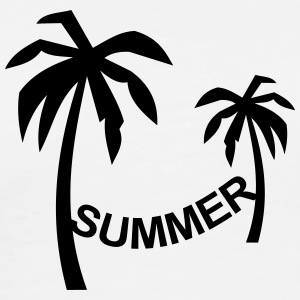 Summer, sun, sea, vacation, palm tree, palm trees T-Shirts - Men's Premium T-Shirt