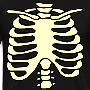 Halloween Chest Ribs Skeleton rib cage T-Shirts - Men's Premium T-Shirt