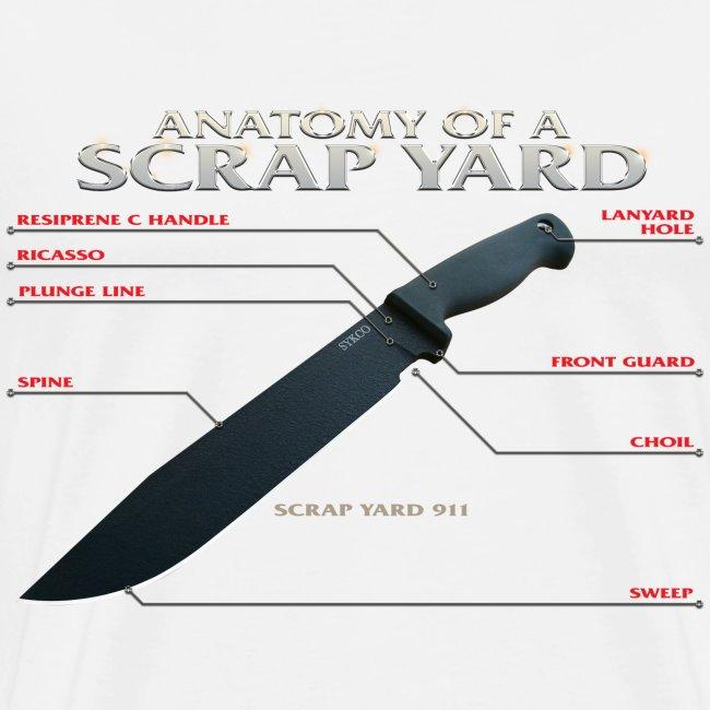 Anatomy of a Scrap Yard Mens Tee