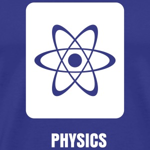 Science Icons: Atom (EDITABLE TEXT) - Men's Premium T-Shirt