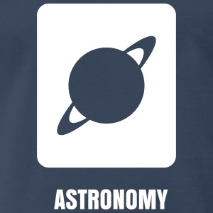 Science Icons: Planet (EDITABLE TEXT) - Men's Premium T-Shirt