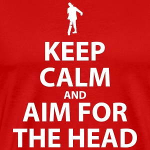 Keep Calm and Aim For The Head - Men's Premium T-Shirt