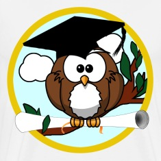 Graduating Cartoon Owl with Diploma