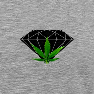 Diamond Weed Tee in Heather Grey - Men's Premium T-Shirt