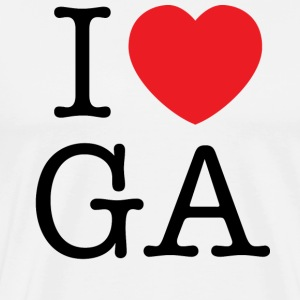 I Love Georgia T-shirt - Men's Premium T-Shirt