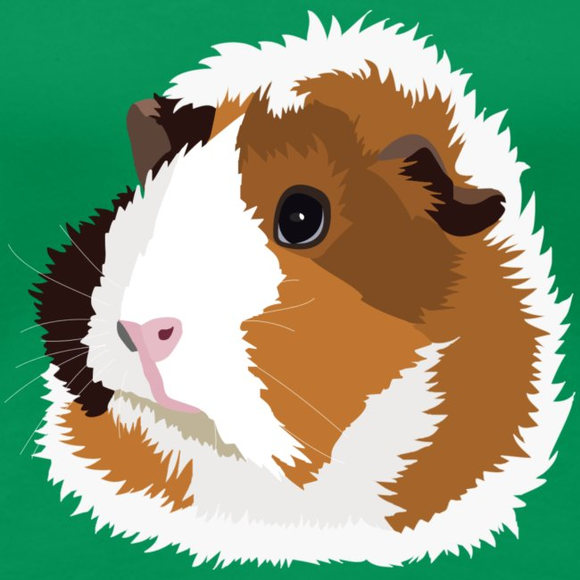 Retro Guinea Pig 'Elsie' Plus-Size T-Shirt (no text)