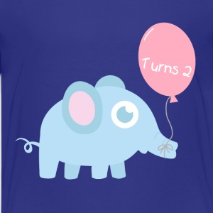Cute baby elephant with balloon Kids' Shirts - Kids' Premium T-Shirt
