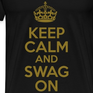 KCCO - Keep Calm and Swag On T-Shirts - Men's Premium T-Shirt
