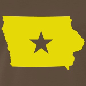 Des Moines Iowa Star T-shirt - Men's Premium T-Shirt