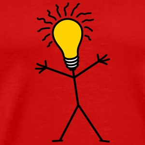 Light Bulb Man T-Shirts - Men's Premium T-Shirt