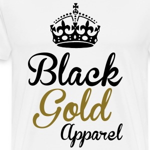 Black Gold Apparel Crown Logo T-Shirts - Men's Premium T-Shirt
