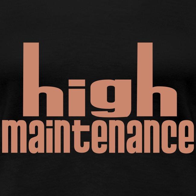 high maintenance (pink glitter font)