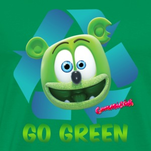 Gummibär Recycle Earth Day Men's T-Shirt - Men's Premium T-Shirt
