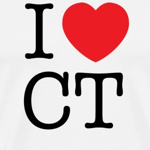 I Love Connecticut T-shirt - Men's Premium T-Shirt
