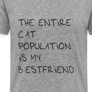 The entire cat population is my bestfriend T-Shirt - Men's Premium T-Shirt