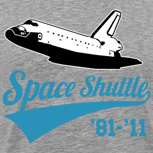 Space Shuttle - Commemorative 1981-2011 (velvet pr - Men's Premium T-Shirt