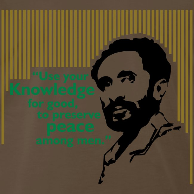 Haile Selassie I Quote  | Men's Premium T-Shirt