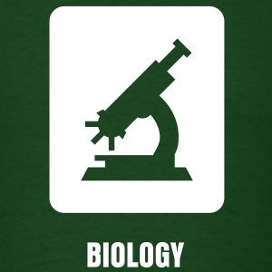 Science Icons: Microscope (EDITABLE TEXT) - Men's T-Shirt
