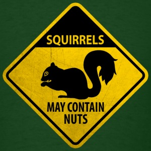 Warning: Squirrels - may contain nuts (grunge) T-Shirts - Men's T-Shirt