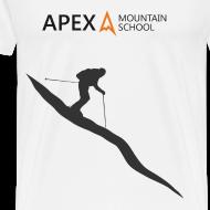 Design ~ Men's Ski T-Shirt (Black)