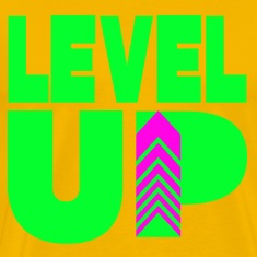 Level Up Neon Green T-Shirts