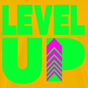 Level Up Neon Green T-Shirts - Men's Premium T-Shirt
