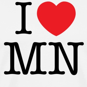 I Love Minnesota T-shirt - Men's Premium T-Shirt