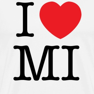 I Love Michigan T-shirt - Men's Premium T-Shirt