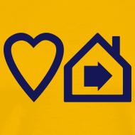 Design ~ Love Progressive House (Symbolic, Navy on Orange, Ver.2)