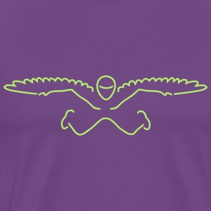 skydiver wings T-Shirts - Men's Premium T-Shirt