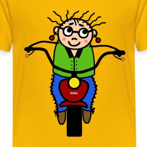 motorcycle female driver Kids' Shirts - Kids' Premium T-Shirt