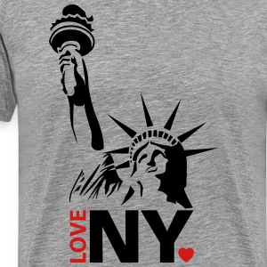 I love New York NY - Men's Premium T-Shirt