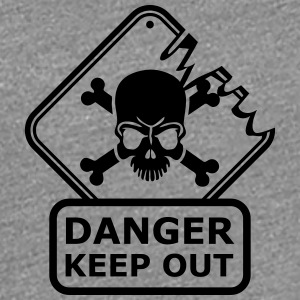 Danger Keep Out Death Sign Women's T-Shirts - Women's Premium T-Shirt
