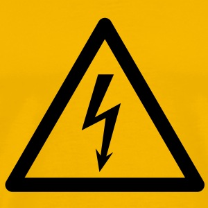 Hazard Symbol - High Voltage - Men's Premium T-Shirt