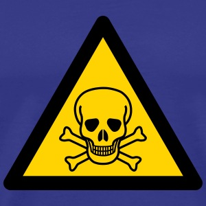 Hazard Symbol - Poisonous Substances - Men's Premium T-Shirt