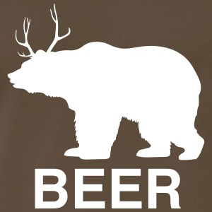 Bear Deer Beer T-Shirts - Men's Premium T-Shirt