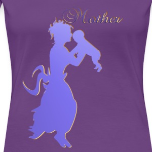 Mother-silhouette - Women's Premium T-Shirt