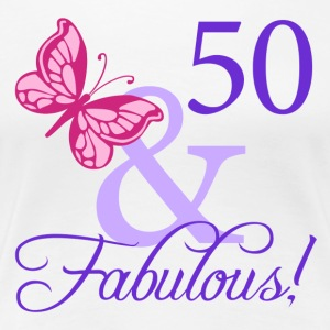 Fabulous 50th Birthday - Women's Premium T-Shirt