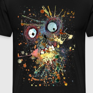 shocked zombie T-Shirts - Men's Premium T-Shirt