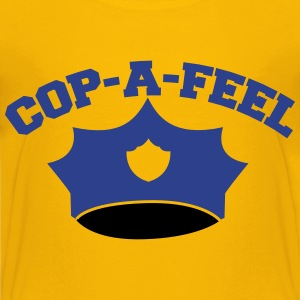 Funny police man hat COP-A-FEEL Kids' Shirts - Kids' Premium T-Shirt