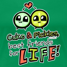 "Cuke & Pickles, ""Best Friends for Life!"" Women's T-Shirts"