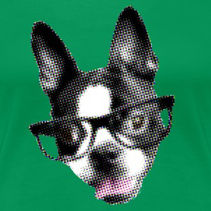 Boston Terrier POP ART STYLE (pixelated) - Women's Premium T-Shirt