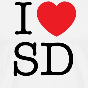 I Love South Dakota T-shirt - Men's Premium T-Shirt