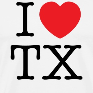 I Love Texas T-shirt - Men's Premium T-Shirt