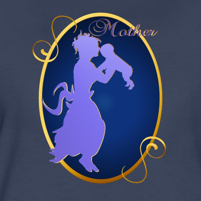 Mother-silhouette Oval