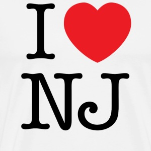 I Love New Jersey T-shirt - Men's Premium T-Shirt