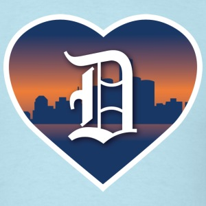 Detroit Heart Skyline - Men's T-Shirt