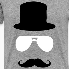 aviator moustache tophat T-Shirts